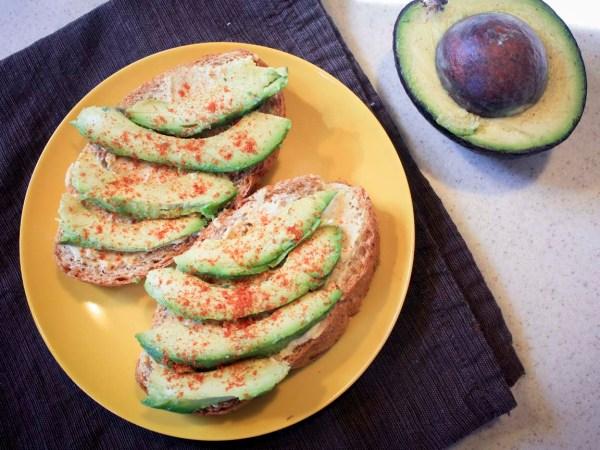 avocado open-face sandwich