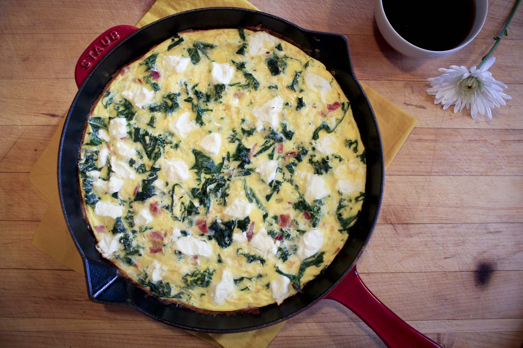 Kale & Goat Cheese Frittata | Enjoy Life, It's Delicious
