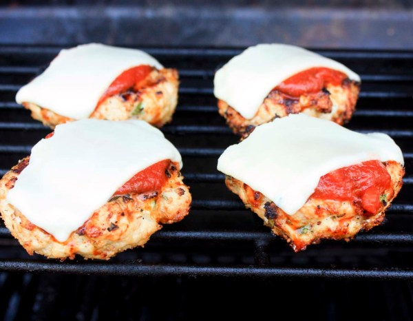 chicken parm on grill