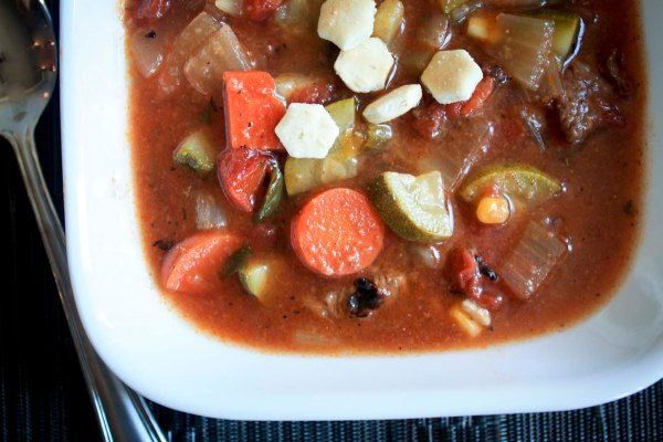 vegetable soup with fire-roasted tomatoes: enjoylifeitsdelicious.com