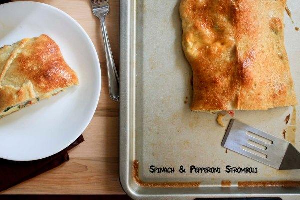 Spinach & Pepperoni Stromboli from enjoylifeitsdelicious.com