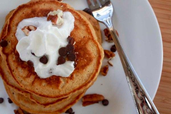 pumpkin pancake stack
