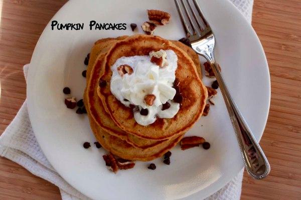 !pumpkin pancakes plate
