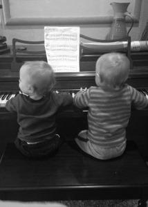 boys piano lr bw