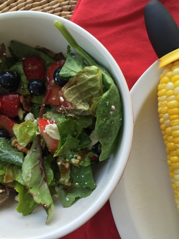 Summer salad with dinner
