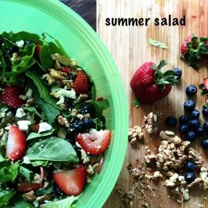 summer salad with walnuts